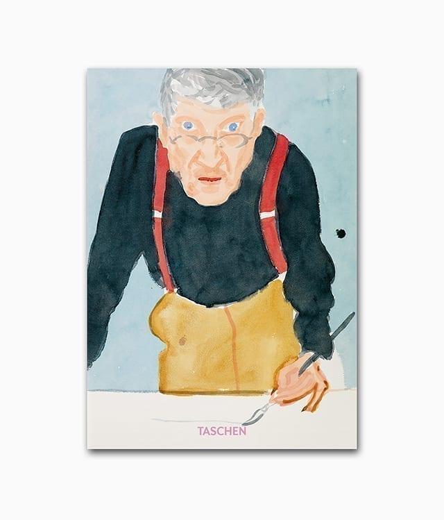 Cover des Kunstbuches über den berühmten Künstler David Hockney aus dem TASCHEN Verlag