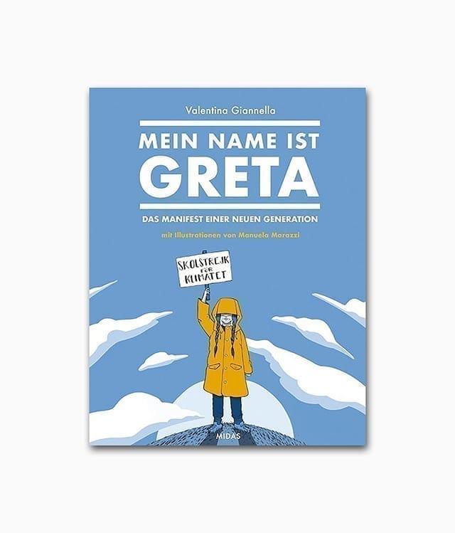 Cover vom Kinderbuch über das starke Mädchen Great Thunberg und über Umweltschutz vom Midas Verlag