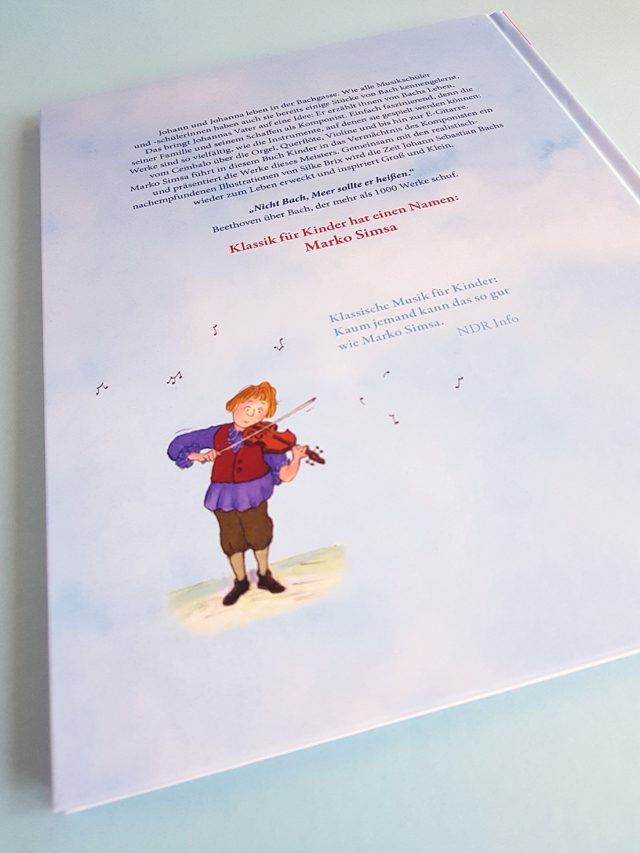Bach für Kinder Jumbo Verlag Buchrücksseite