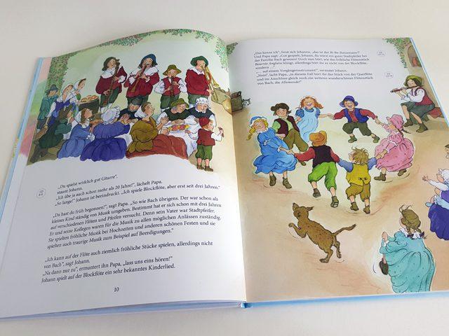 Bach für Kinder Jumbo Verlag aufgeschlagenes Kinderbuch