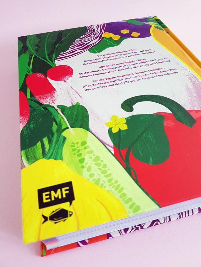 Colors of Greens Die neue Gemüseküche EMF Verlag Buchrückseite