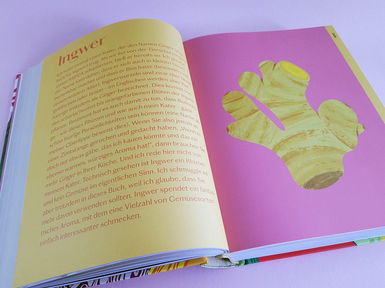 Colors of Greens Die neue Gemüseküche EMF Verlag aufgeschlagenes Kochbuch