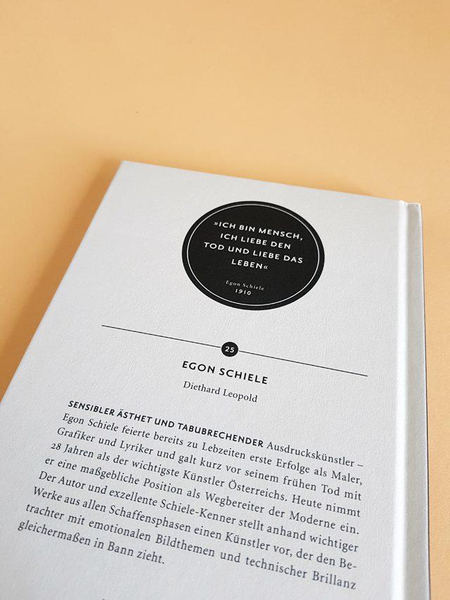 Egon Schiele Junge Kunst 25 Klinkhardt und Biermann Verlag Buchrückseite