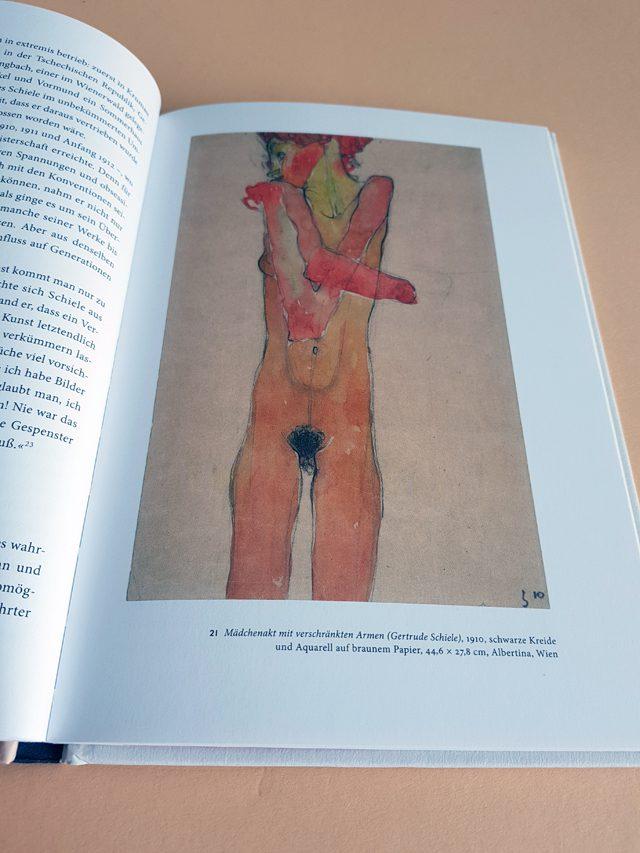 Egon Schiele Junge Kunst 25 Klinkhardt und Biermann Verlag aufgeschlagener Bildband