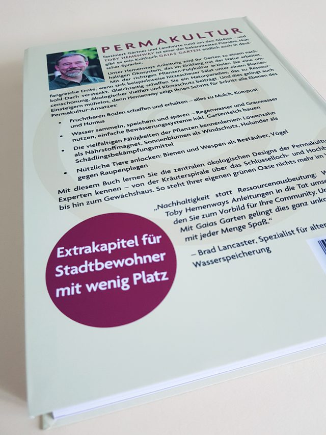 Gaias Garten Unimedica Verlag Buchrückseite