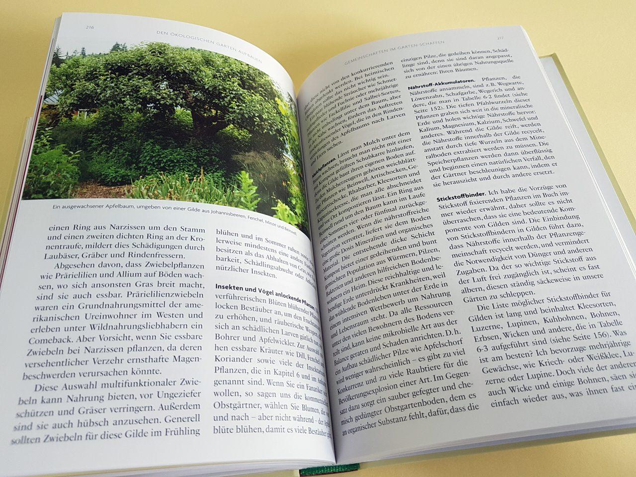 Gaias Garten Unimedica Verlag aufgeschlagener Bildband