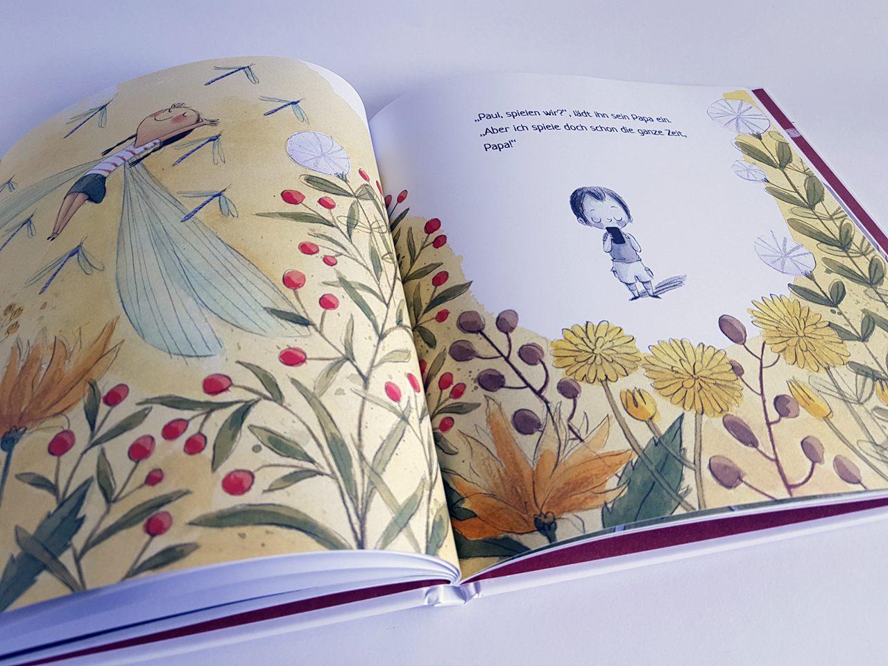 Komm wir wollen spielen Jumbo Verlag aufgeschlagenes Kinderbuch