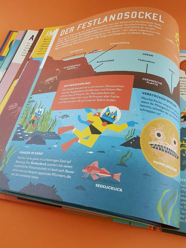 Professor Astrokatz Reise in die Tiefsee NordSüd Verlag aufgeschlagenes Kinderbuch