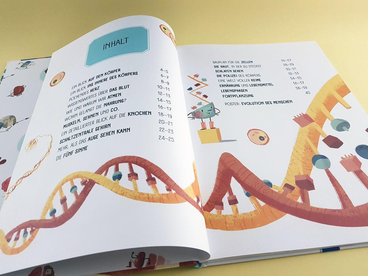 Welt der Wunder Der Körper des Menschen YoYo Books Inhaltsverzeichnis