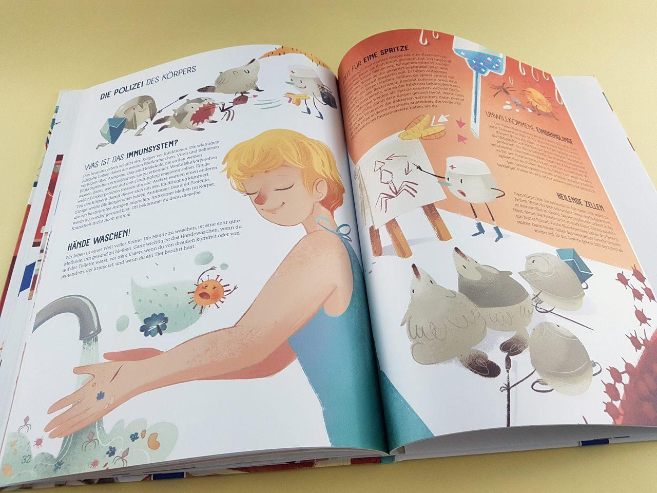 Welt der Wunder Der Körper des Menschen YoYo Books aufgeschlagenes Kinderbuch