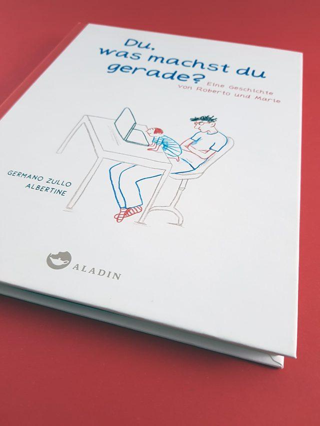 Du, was machst du gerade Aladin Verlag Buchcover
