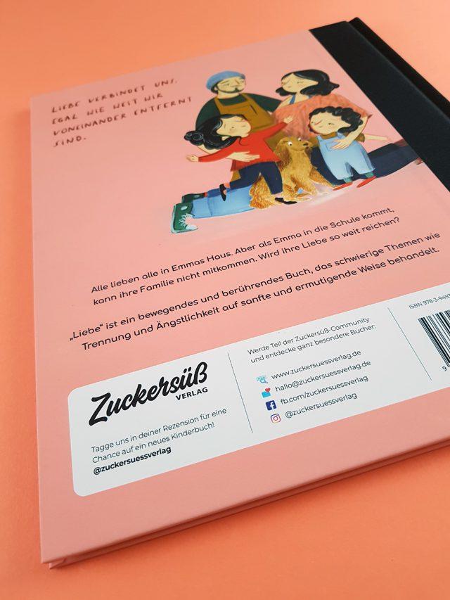 Liebe Zuckersüß Verlag Buchrückseite