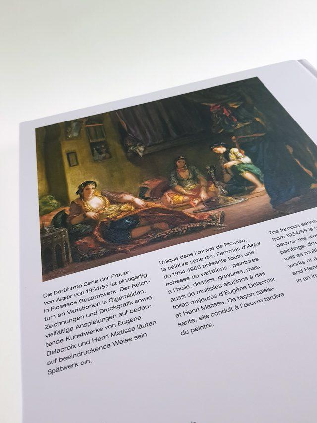 Picasso & Les Femmes D'Alger Hirmer Verlag Buchrückseite
