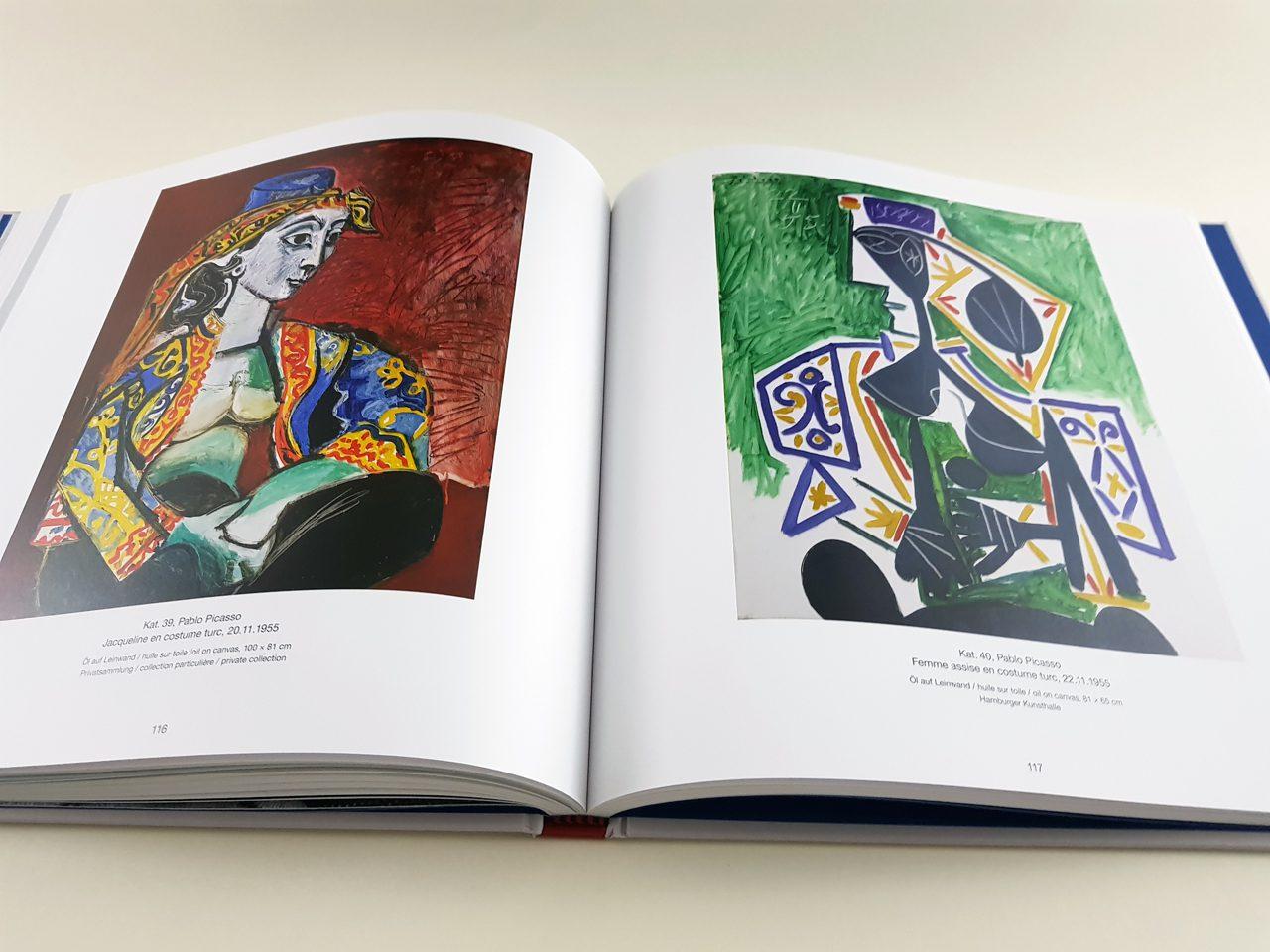 Picasso & Les Femmes D'Alger Hirmer Verlag aufgeschlagener Bildband
